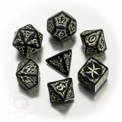 Set de dés Tribal Phosphorescent Noir