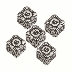 Set de dés Tech Dice Metal d6
