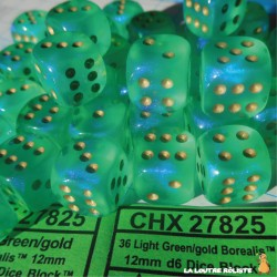 Set de mini dés 6 Borealis Vert