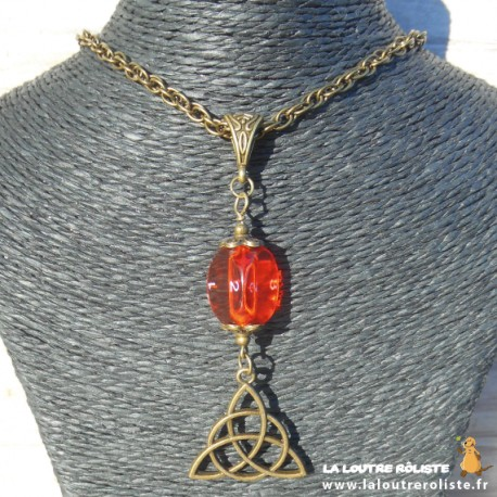 Collier Celte n°3 dé 3 orange