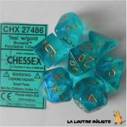 Set de dés Borealis Teal CHESSEX