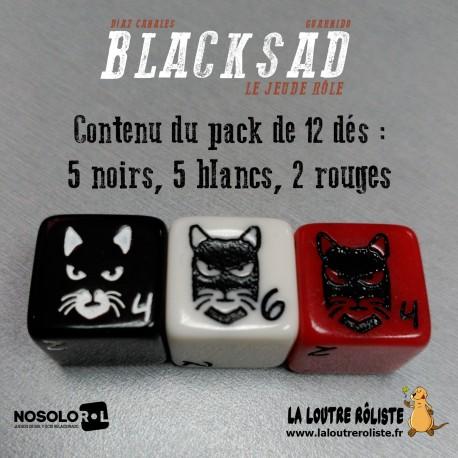 Set de 12 dés BLACKSAD - Le Jeu de Rôle (PRECOMMANDE)