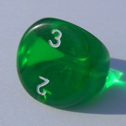 Dé 3 Transparent Vert