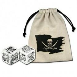 Bourse Pirate et 2 dés 6 faces Pirate