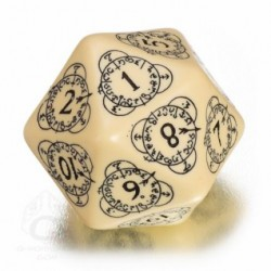D20 Level Counter Beige