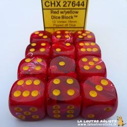 Set de 12 dés 6 Vortex Rouge