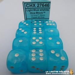 Set de 12 dés 6 Cirrus Bleu clair