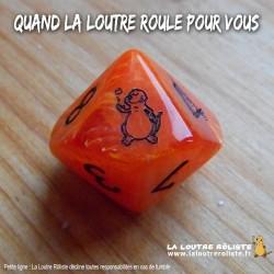 Dé 10 LOUTRE ROLISTE - Vortex Orange
