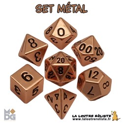Set de dés METAL aspect CUIVRE BRILLANT de chez Metallic Dice Games, import US