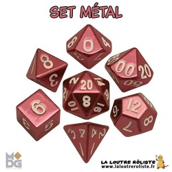 Set de dés METAL ROSE de chez Metallic Dice Games, import US