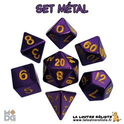 Set de dés METAL VIOLET de chez Metallic Dice Games, import US