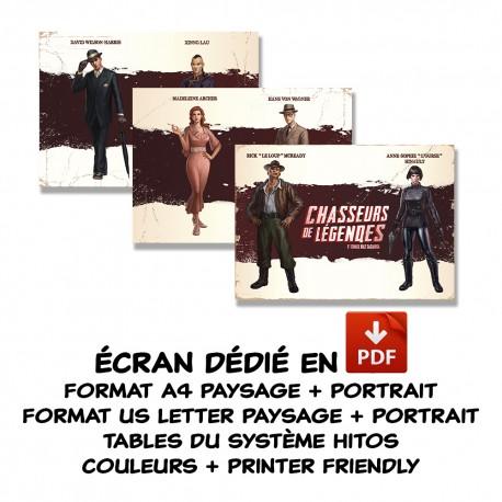 Chasseurs de Légendes - Ecran du Meneur de Jeu - format PDF