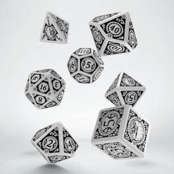 Set de dés Steampunk Clockwork Blanc Q-Workshop
