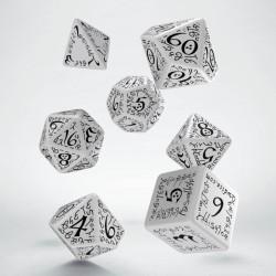 Set de dés Elfique Blanc et Noir