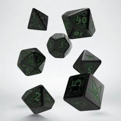 Set de dés Call of Cthulhu Noir et Vert Q-Workshop