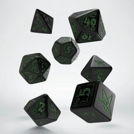 Set de dés Call of Cthulhu Noir et Vert