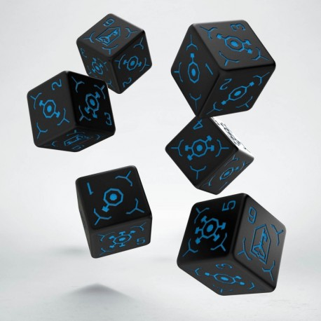 Set de 6 dés 6 faces INGRESS Bleu