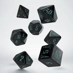 Set de dés GALACTIC Noir & Bleu Q-Workshop