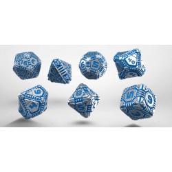 Set de dés TECH Métal & Bleu