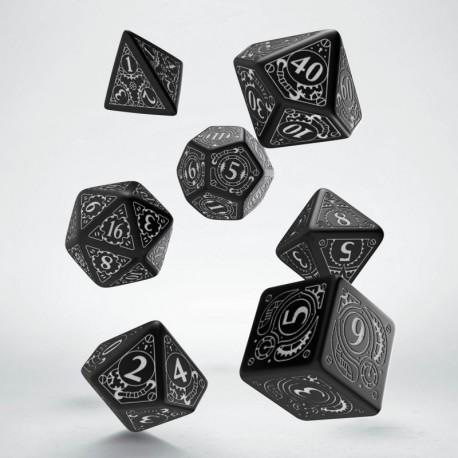 Set de dés Steampunk Noir