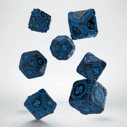 Set de dés Tech Dice Noir & Bleu Q-Workshop