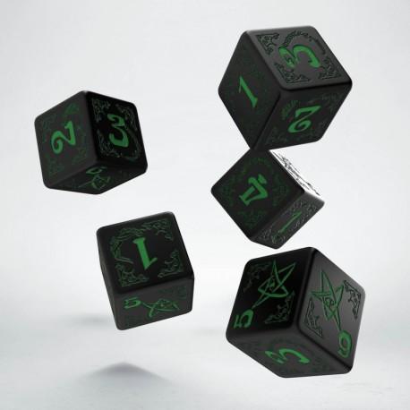 Set de dés Arkham Horror Noir Q-Workshop La Loutre Rôliste