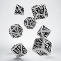 Set de dés Dwarven Blanc Q-Workshop Nouveau Design