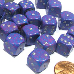 Set de mini dés 6 Speckled Silver Tetra CHESSEX