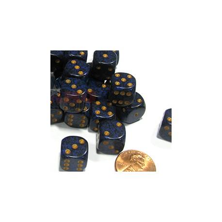 Set de mini dés 6 Speckled Golden Cobalt CHESSEX