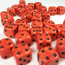 Set de mini dés 6 Speckled Fire CHESSEX