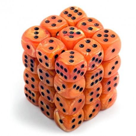 Set de mini dés 6 Vortex Orange CHESSEX