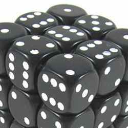 Set de mini dés 6 Opaque Noir CHESSEX