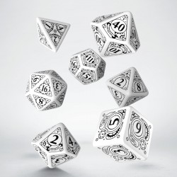 Set de dés Steampunk Blanc Q-Workshop