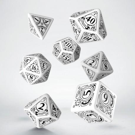 Set de dés Steampunk Blanc Q-Worshop