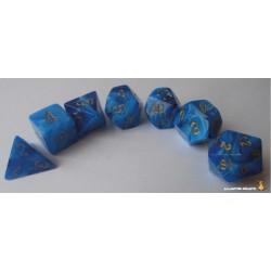 Set de dés Vortex Bleu