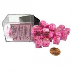 Set de 36 mini dés 6 Vortex Rose CHESSEX