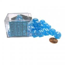 Set de 36 mini dés 6 Frosted Carribean Blue CHESSEX