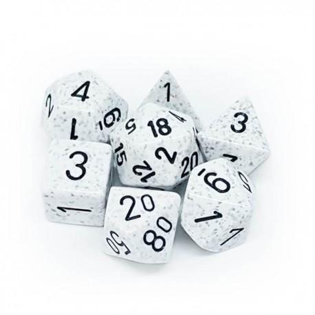 Set de 7 dés Speckled Artic Camo CHESSEX