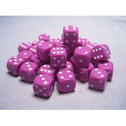 Set de 36 mini dés 6 Opaque Violet clair CHESSEX