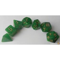Set de dés Vortex Vert Foncé