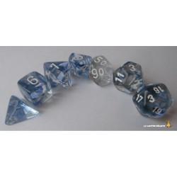 Set de dés Nebula Noir Chessex