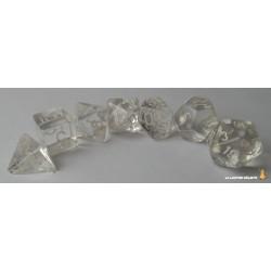 Set de dés Translucent Blanc