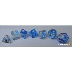 Set de dés Nebula Bleu CHESSEX