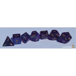 Set de dés Borealis Violet Chessex