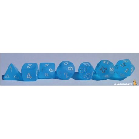 Set de dés Frosted Bleu Caribbean