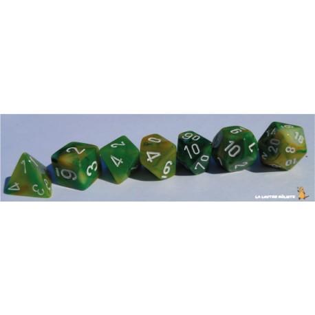Set de dés Phantom Vert