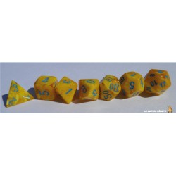 Set de dés Vortex Jaune CHESSEX