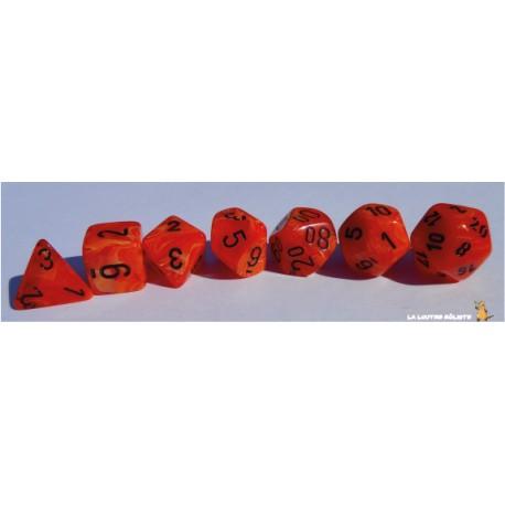 Set de dés Vortex Orange