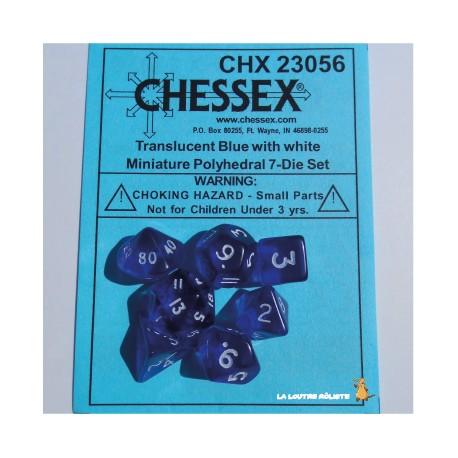 Set de MINI dés Translucent Bleu