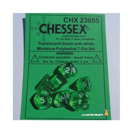 Set de MINI dés Translucent Vert